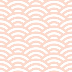pale peach-pink and white scallop fabric by weavingmajor on Spoonflower - custom fabric