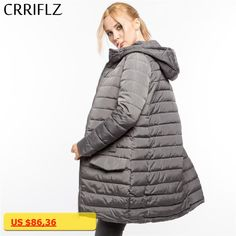 High Quality Warm Winter Jacket Women Hooded Coat Down Parkas Female Outerwear CRRIFLZ 2017 New Winter Collection