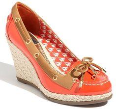 boat shoe + wedge = fabulous