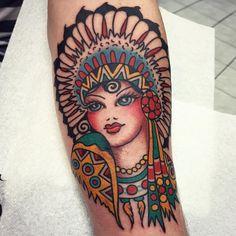 Ain't she a beauty? Ink by @jordanbaxtertattoo. #traditionaltatoo #flash #SailorJerry #ink #tattoo #SailorJerryUK