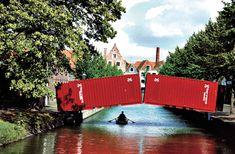 "Luc Deleu / t.o.p. office ""hoorn bridge"" 1990, in Hoorn, Niederlande, © Luc Deleu, VG Bild-Kunst, Bonn 2011, Foto © Wim Riemens - The hamburger of architecture - News & Stories at STYLEPARK"