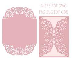 set intricate wedding invitation laser cut templates card, invitation samples