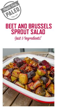 Beet and Brussels Sprout Salad #glutenfree #realfood
