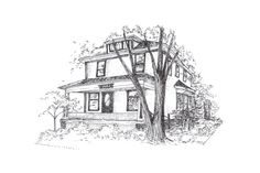 Custom Illustration of your Home by RockfordIllustration on Etsy, $65.00