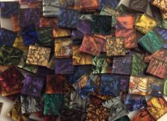 VAN GOGH GLASS MIX stained glass mosaic tiles - beautiful and available now!