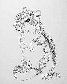ardilla my art hago ilustraciones a pedido