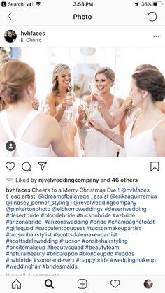 Blonde Bride, Blonde Updo, Champagne Toast, Merry Christmas Eve, Succulent Bouquet, Bridal Updo, Updos, Wedding, Beauty