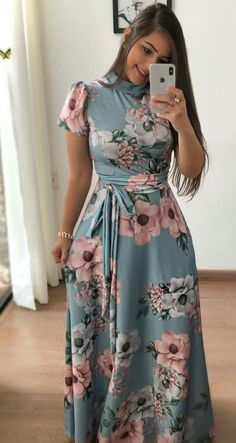 How to Wear: The Best Casual Outfit Ideas - Fashion Komplette Outfits, Modest Outfits, Modest Fashion, Hijab Fashion, Casual Dresses, Fashion Dresses, Pretty Dresses, Beautiful Dresses, Trend Fashion