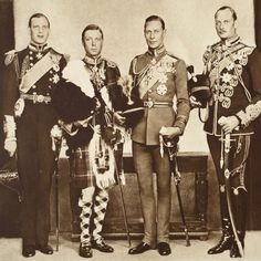 The four Princes - The Duke of Kent, The Prince of Wales, and The Dukes of York & Gloucester