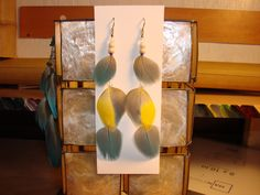 Blue & yellow feathers, the Coco series