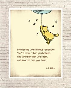Inspirational Quotes Discover Winnie the Pooh Classic Pooh Pooh Wall Art Pooh Art Prints Pooh and Blue Balloon Vintage Pooh Drawings Classic Winnie the Pooh Quote. Winnie The Pooh Classic, Winnie The Pooh Quotes, Piglet Quotes, Love One Another Quotes, Cute Captions, Baby Nursery Art, Book Page Art, Poetry Art, Congratulations Graduate