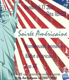 Soirée Américaine organisée par Action BDEWibs vendredi 17 juin à partir de 18h00, Venez nombreux !!!