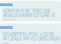 Bernina en Brother software Brother, Software, Craft Work