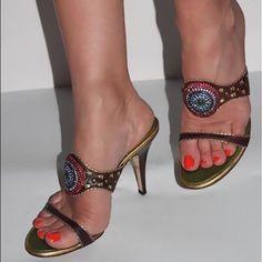 f2ad78b0844c9 Giuseppe Zanotti mules size 7 heels sandals 4
