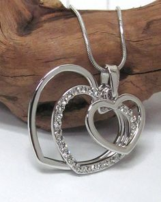 Triple Silver Cut Out Heart Pendant Necklace – JaeBee Jewelry