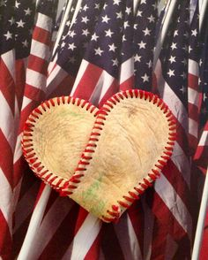 Baseball Heart, Valentine's Day Heart, Heart, Wedding Favors, Baseball, Love, Scrapbooking, DIY Valentines Day Card.