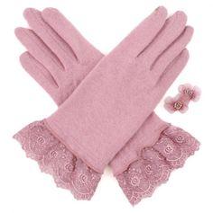 2-Fingertip Touchscreen Woolen Gloves