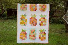 Decken - Narzuta patchwork ananasy - ein Designerstück von dom-artystyczny bei DaWanda