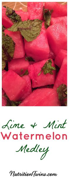 Watermelon Mint Detox Salad   Only 46 Calories   Helps to flush bloat & puffiness  For Nutrition & Fitness Tips, and RECIPES please SIGN UP for our FREE NEWSLETTER www.NutritionTwins.com