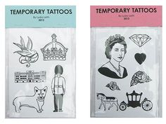 TEMPORARY TATTOOSThe Queen. A diamond. A corgi. These symbols that are synonymous with the British monarch should find good real estate on your body if you're serious about celebrating Elizabeth's milestone Jubilee, so roll up your sleeves! Buy It: Temporary Tattoos by Lydia Leith, £3 each at lydialeith.com