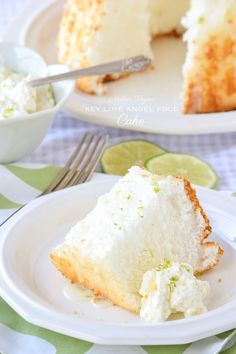 A simple and delicious recipe for Key Lime Angel Food Cake topped with a Key Lime Glaze from the Summer Thyme cookbook. Brownie Desserts, Just Desserts, Delicious Desserts, Yummy Food, Angel Food Cake Desserts, Food Cakes, Cupcakes, Cupcake Cakes, Yummy Treats