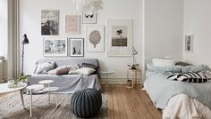 22 ιδέες για Studio: Σπίτι λίγων τετραγωνικών, κρεβατοκάμαρα και καθιστικό μαζί