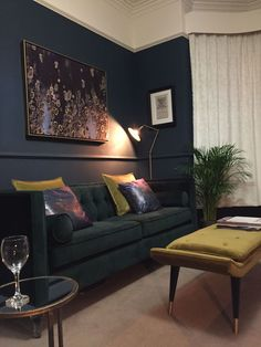 As soon as you are comfortably seated on the sofa you're able to begin soaking in the gorgeous vintage decor and marvellous blue walls. If you think t...