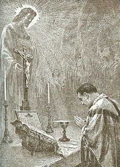 """""""Every day He humbles Himself just as He did when from from His heavenly throne into the Virgin's womb; every day He comes to us and lets us see Him in lowliness, when He descends from the bosom of the Father into the hands of the priest at the altar."""" ----------------------- ~ St. Francis of Assisi"""