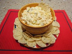 Creamy Corn Dip. Yummy, I'm making this for Father's day lunch..it'll be perfect with hamburgers!