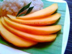 Mangue et riz gluant au lait de coco La Kitchenette de Miss Tâm