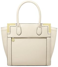 Cream zip wing tote bag on shopstyle.com