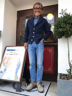 Old Man Fashion, Mens Fashion, Cool Outfits, Casual Outfits, Fashion Outfits, Military Jacket Outfits, Boys Clothes Style, Best Dressed Man, Blazer With Jeans