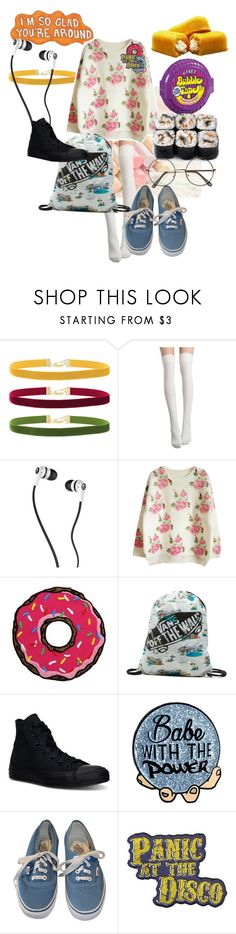 """Whatever this is XD"" by diana-littlefield ❤ liked on Polyvore featuring Rock 'N Rose, Skullcandy, Vans, Junk Food Clothing and Converse"