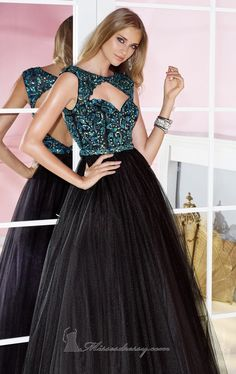 Cutout Tulle Dresses by Alyce Prom 6217 $463.99 Alyce Paris
