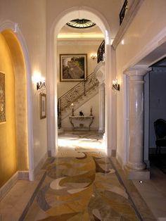 Floor <3   Doni Flanigan Interior Design Artist - traditional - hall - los angeles - Doni Flanigan
