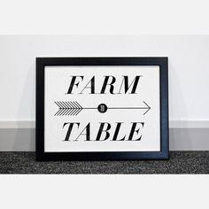 Farm To Table Print 12x16