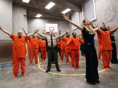 Prison inmates at the San Francisco County Jail join the One Billion Rising movement to end violence against women and children.