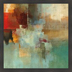 Artist: Randy Hibberd Title: Big City I Product type: Framed Print Style: Contemporary Format: Square Size: Large Subject: Abstract Frame: Dark ebony with a wood grain feel Image dimensions: 30 inches