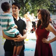 Nathan, Haley and Jamie on his birthday! Too cute!