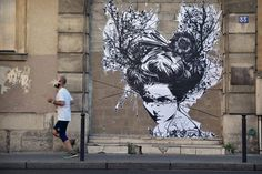 French Street art and paper cut by Monsieur Qui - for the English speakers like me, site is in French - doesn't matter as the art is rad
