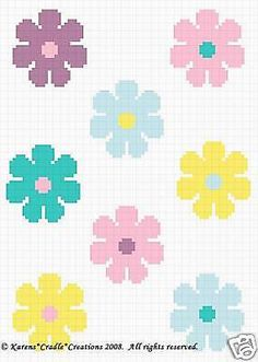 That I created. This graph pattern will make a beautiful heirloom afghan done in single crochet, the afghan or Tunisian crochet stitch, knit, or counted cross stitch onto the background. Pixel Crochet, Crochet Gratis, Crochet Chart, Bead Crochet, Tapestry Crochet Patterns, Crochet Flower Patterns, Crochet Puff Flower, Crochet Flowers, Knitting Charts