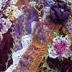 I ❤ crazy quilting & embroidery . . .  crazy quilt 041 ~By Viv Silva