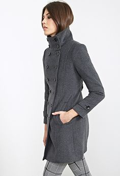 Double-Breasted Peacoat | Forever 21 - 2000102487