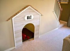 Really Cool Dog House. If we only had stairs!
