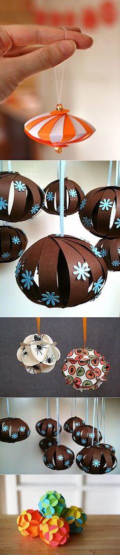 Бумажные шарики на елочку | Новый год и Рождество (идеи и красота)