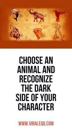 Choose an animal and recognize the dark side of your character Psychology Facts Personality Types, Psychic Abilities Test, Serious Relationship, Premium Wordpress Themes, Dark Side, Flirting, The Darkest, First Love, Noto