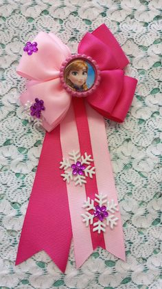 Frozen Inspired Hair bow Anna by RibbonRush on Etsy