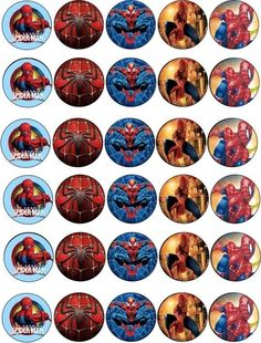 30 X Spiderman Mixed Images Edible Cupcake Toppers Premium Rice Paper 119