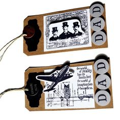 Father's Day Steampunk Gift Tags/Set of 2/DAD by valburgesscollage, $4.00-Awesome new item!