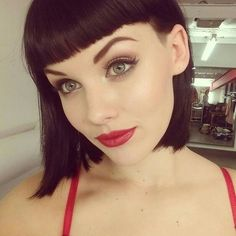 Undercut bob with fringe